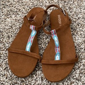 (173)Brand new sandals brown us6🤎🧡